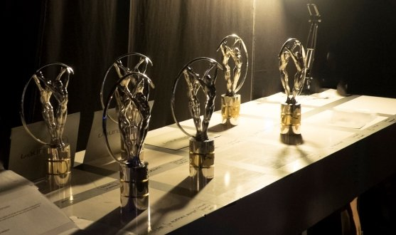 LAUREUS WORLD SPORTS AWARDS 2015. Shanghai, China, 15-4-2015 Backstage at Shanghai Grand Theatre. Statues. Pic by Ian McIlgorm for Laureus